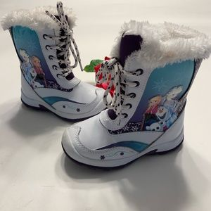 Disney Frozen Toddler Girls Size 9 Snow Ski Boots